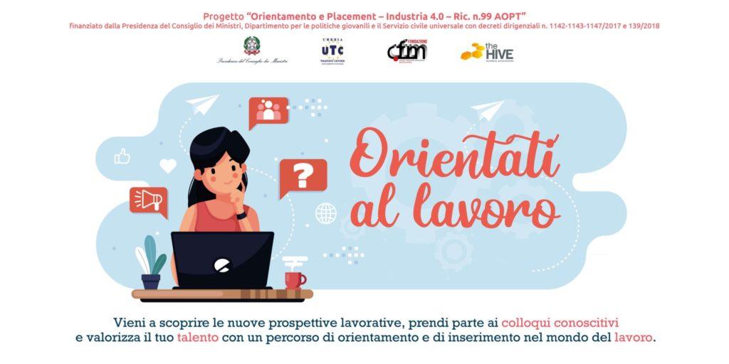"""immagine per il talent meeting """"orientati al lavoro"""" organizzato da the hive, cfm e utc - master sida"""